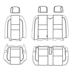 Ford Transit Wagon XL Katzkin Leather Seats (4th row, split bench for 3 passengers, no arm), 2015, 2016, 2017, 2018, 2019, 2020