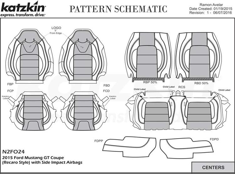 Ford Mustang Coupe GT (Recaro) Katzkin Leather Seats, 2015