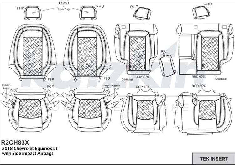 Chevrolet Equinox Katzkin Leather Seats 2018 2019