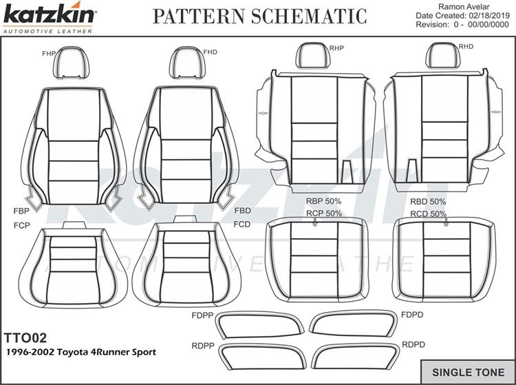 Toyota 4Runner SPORT Katzkin Leather Seats, 1996, 1997