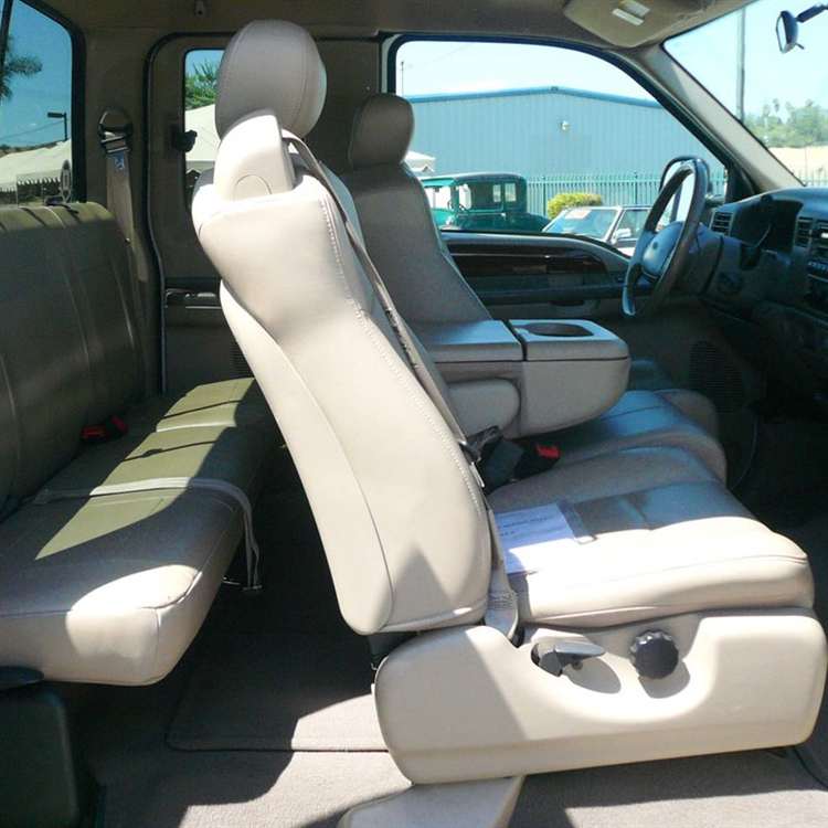 Fine 2003 Ford F250 F350 Super Cab Katzkin Leather Interior Lb 3 Passenger Front Seat 2 Row Inzonedesignstudio Interior Chair Design Inzonedesignstudiocom