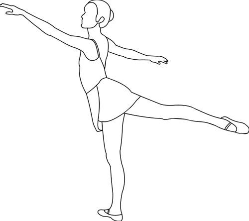 arabesque coloring sheets - Ballet Coloring Pages 2