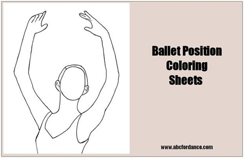 Ballet position coloring pages.