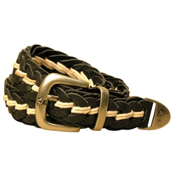 Braided Cowhide Belt