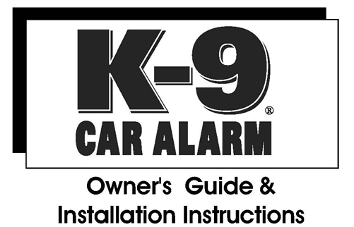 k9 owners and installation guides Alarm Wire k 9 alarm installation manual