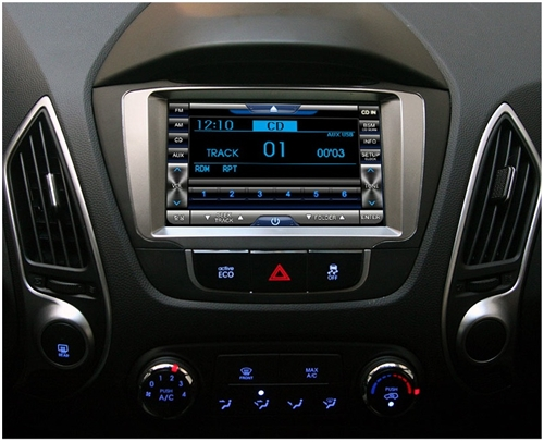 oem integrated navigation system for hyundai tucson 2010 2015. Black Bedroom Furniture Sets. Home Design Ideas