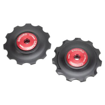 ABI Ceramic CX derailleur pulleys, Shimano - red