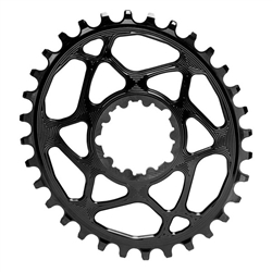Absolute Black Spiderless GXP Direct Mount Oval Chainring