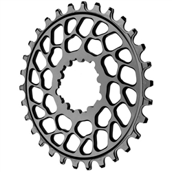 Absolute Black Spiderless BB30 DM Chainring Black