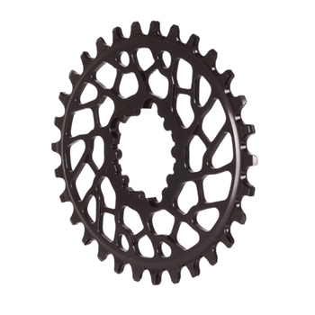 Absolute Black Spiderless BB30 DM Oval Chainring Black