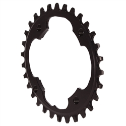 Absolute Black Sram 94BCD Oval Chainring Black
