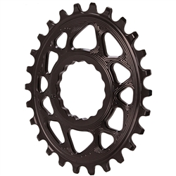 Absolute Black Spiderless Cinch DM Oval Boost Chainring
