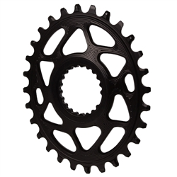 Absolute Black Shimano DM Oval Chainring