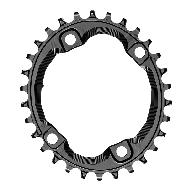 Absolute Black XT Asym 96BCD Oval Chainring Black