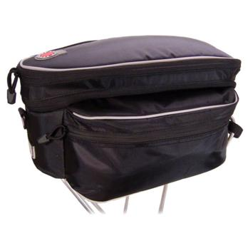 Banjo Brothers Expanding Rack Top Bag: Black