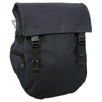 Banjo Brothers Minnehaha Waterproof Canvas Pannier: Black-Each