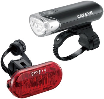 Cateye Front/Rear Light Combo HL-EL135 + Omni3