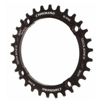 Chromag Sequence chainring, 104BCD - black