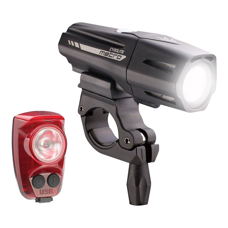 Cygolite Metro Plus 800 Headlight / HotShot Pro 150 Taillight Set