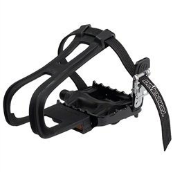 "Dimension Sport Pedals w/Clips 9/16"" Nylon"