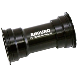 Enduro TorqTite Bottom Bracket Angular Contact Stainless Black