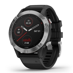 Garmin Fenix 6 Silver w/Black Band