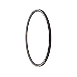 HED Belgium Plus 25mm Rim 28h with Machined Side Wall Black