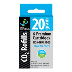 Genuine Innovations 20g Threadless Co2 Cartridges 6-Pack