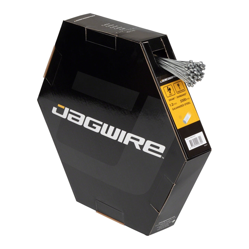 Jagwire Basics Derailleur Cables Galvanized 1.2x2300mm SRAM/Shimano Box of 100