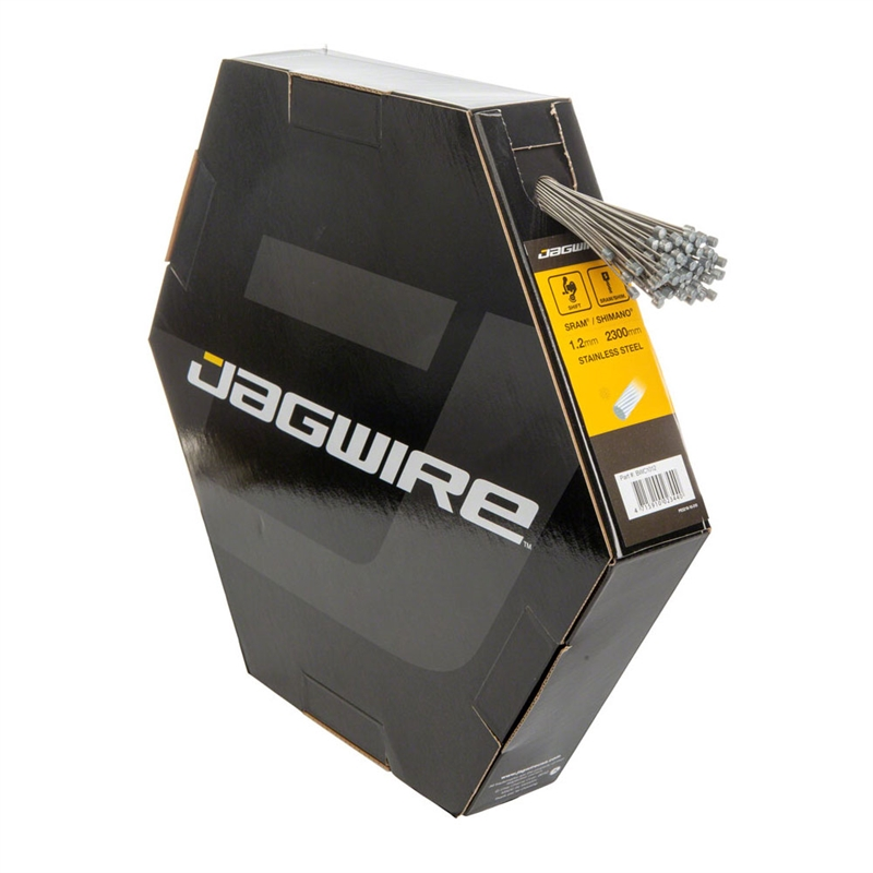 Jagwire Basics Derailleur Cables Stainless 1.2x2300mm SRAM/Shimano Box of 100