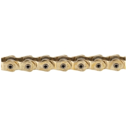 "KMC HL1L Wide Single Speed 1/2"" x 1/8"" Chain Gold"
