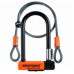 "Kryptonite Evolution Series 3.25 x 7"" U-Lock w/4' Cable"