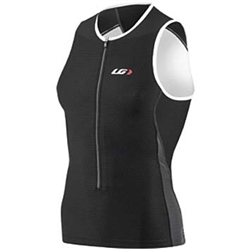 Louis Garneau Pro Sleeveless Tri Top Grey/Black