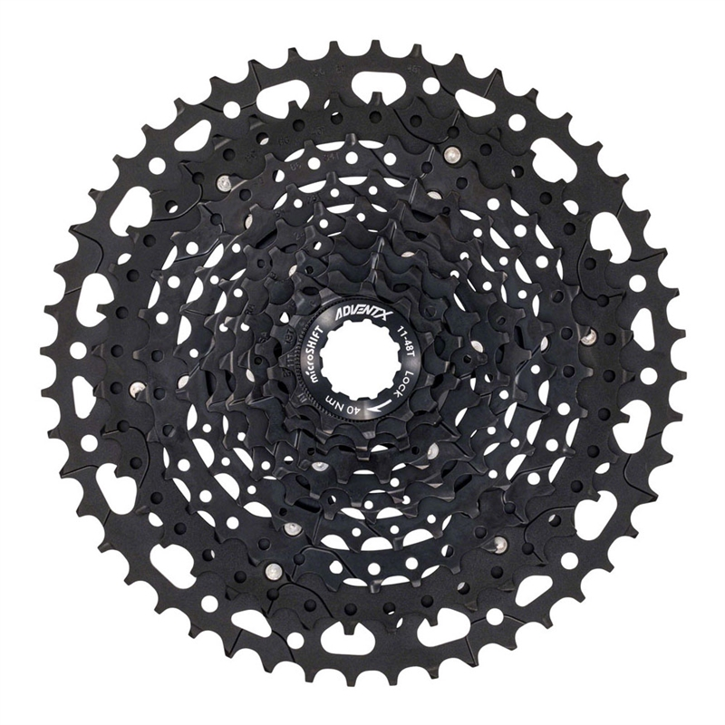 microSHIFT ADVENT X 11-48t 10-Speed Cassette Hardened Steel Cogs