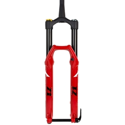 "Marzocchi Bomber Z1 27.5"" 180mm Grip Sweep-Adj 15QR x 110 44mm Rake Gloss Red Matte Black"