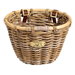 Nantucket Tuckernuck Front Basket, Oval Shape Gray