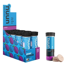 Nuun Sport Caffeine Hydration Tablets Box of 8 Tubes