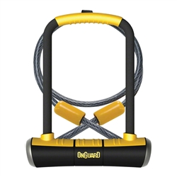 "OnGuard PitBull U-Lock DT 4.5 x 9"" with Cable and Bracket"
