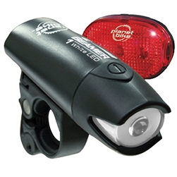 Planet Bike Beamer 1 Headlight and Blinky 3 Taillight Set