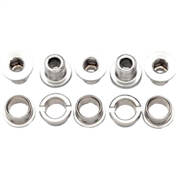 Problem Solvers Double Chainring Bolts Silver Stainless