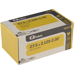 Q Tubes Value Series Tube 48mm Presta 27.5 x 2.125-2.35