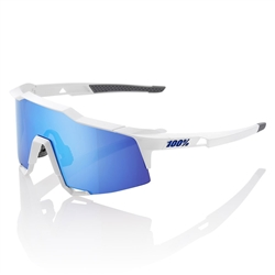 Ride 100% Speedcraft Matte White/HiPER Blue Multilayer  Lens
