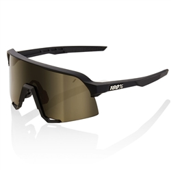 100% S3 Soft Tact Black/Soft Gold Lens