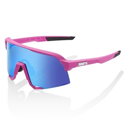 Ride 100% S3 Matte Pink/HiPER Blue Multilayer Mirror Lens