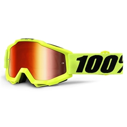 Ride 100% Accuri Goggle Fluo Yellow Red Mirror Lens