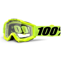 100% Accuri Goggle Fluo Yellow Clear Lens