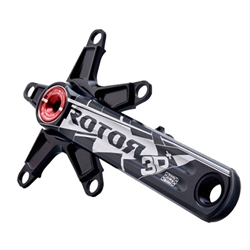 Rotor 3D+ crank arm set, triple 74/130 black