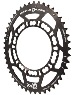 Rotor QXL chainring, 9000/6800 4-arm 110 46t(A) black