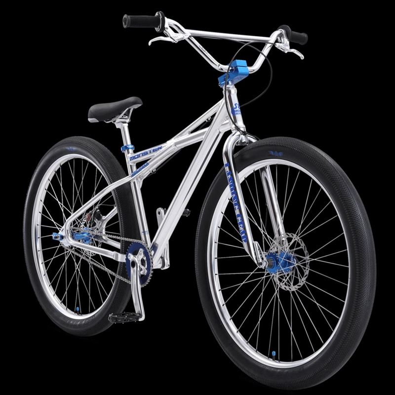 "SE Bikes Monster Quad 29"" BMX Bike Polished Silver"
