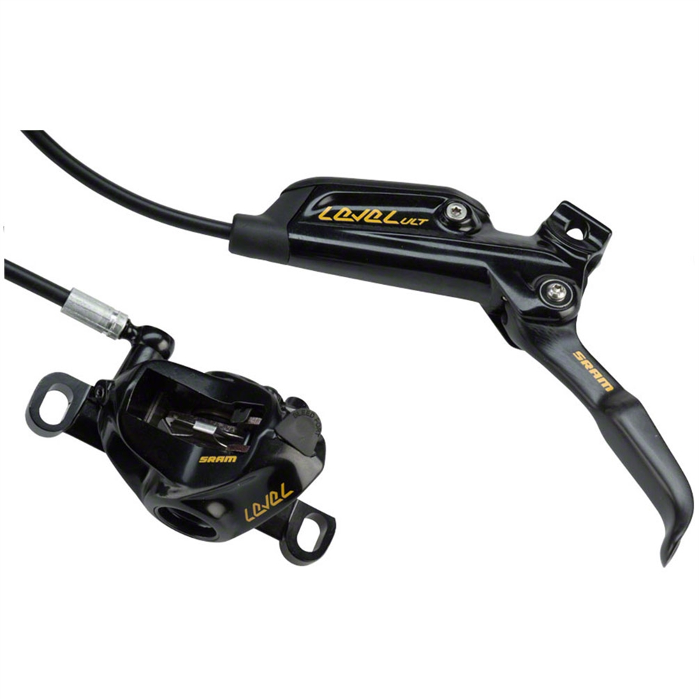 Hydraulic Disc Brakes Lever Calipers Rotor 160mm MTB XC Bike Front Rear set Gold